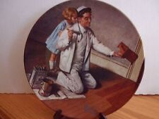"Norman Rockwell The Painter 8.5"" Fine China Knowles Numbered Collector Plate"