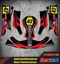 Birel X30  go kart full custom KART ART sticker kit THUNDER STYLE