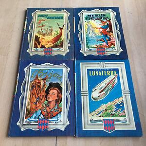 lot 4 livres : Contes Andersen, Bijou, Lunaterra...- Bibliothèque rouge et bleue