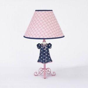 CoCaLo MADISON Lamp Base & Shade Nursery Decor PINK BLUE GIRLS NEW