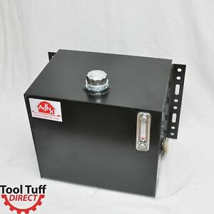 Tool-Tuff 25-Gallon Hydraulic Fluid Reservoir Tank, Side Vertical-Mount, w/Temp