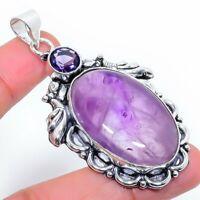 "Sage Amethyst Gemstone Handmade Ethnic Gift Jewelry Pendant 2.17"" VK-5653"
