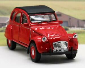 PERSONALISED PLATES Gift Red Citroen 2CV Diecast Boys Toy Model Car Present