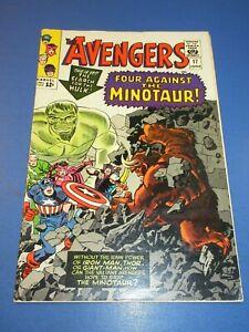 Avengers #17 Silver age Hulk Key Fine+/FVF Beauty JP