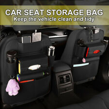 1X Car Seat Back Storage Bag Multi-Pocket Leather Organizer Holder AU POST