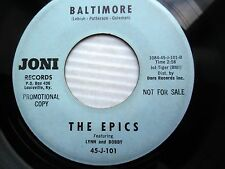 EPICS 1963 doowop R&B promo 45 BALTIMORE b/w JANIE MOSS we belong together e8560