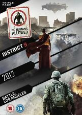 2012 / Battle: Los Angeles / District 9 (DVD, 2011, 3-Disc Set)