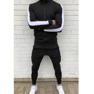 Mens Tracksuit Casual 2 Piece Athletic Pants Sweater Jacket Sweatsuit Sport Set