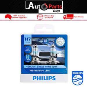 Genuine PHILIPS White Vision Ultra 4200k H7 12V 55W Globes