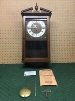 Vintage LINDEN 8 DAY WESTMINSTER WALL CLOCK Cuckoo Clock MFG W Germany 341-020