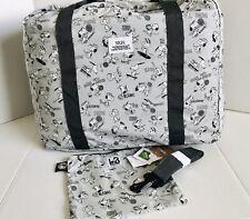 Peanuts Snoopy Travel Grey Folding Bag Water Proof Bag