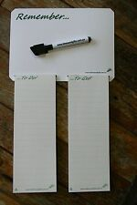 4 Notepads +A5 Fridge Memo Family Shopping List Reminder Whiteboard Magnet 2pens
