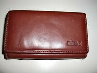 ~BEST DESIGN BY ITALY~BROWN LEATHER~LOTS  KOMPARTMENTS~CHANGE PURSE ~WALLET