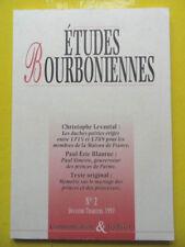 revue Etudes Bourboniennes n° 2 1997 Bourbons Ch. Levantal P.-E. Blanrue