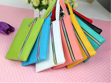 New Summer Fashion Lady Women Purse Long Zip Wallet Mobile Phone Bag PU Handbag