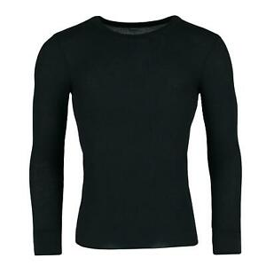 New Fruit of the Loom Men's Waffle Weave Thermal Crewneck Top