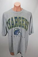 VTG 90s NFL SAN DIEGO/LOS ANGELES CHARGERS Gray Thermal Football T-Shirt Sz XL