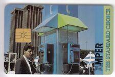 TEST SALON EXPO CARTE CARD .. CROATIE 200U AMPER CABINE CR01 +LOGO2 CHIP/PUCE
