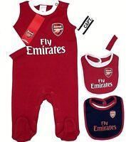 ARSENAL FC NEW 2019 BABIES PRAM SLEEP SUIT AFC BABY PLAY GROW BODYSUIT ROMPER