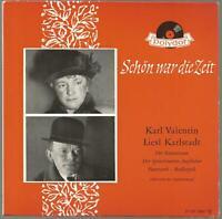 7' single Schön war die Zeit Karl Valentin Liesl Karlstadt Polydor 21 107 EPH