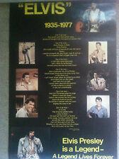 ELVIS PRESLEY 1935-1977 A Legend Lives Forever Vintage Poster 1977.  (ON SALE)
