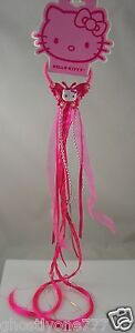 Hello Kitty Sanrio ponytail pink hair strands beads accessory