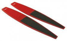 Dual Sided Pedicure Red Foot File 180/240 Grit Beauty Salon Spa Quality Files
