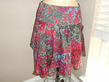 Ted Baker Floral print cotton Asymetrical Skirt 2 CUTE