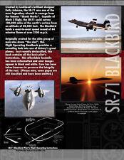 SR-71 Blackbird SPY PLANE Pilot's Manual Airplane BOOK
