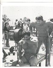 Arnold Schwarzenegger/Franco Columbu Bench 315 Workout Bodybuilding Photo B&W #2