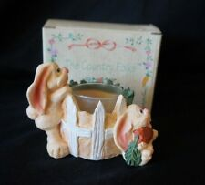 Russ - The Country Folks - Bunny Votive Holder # 2683 w/Box Adorable