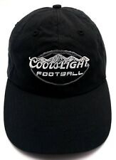 COORS LIGHT FOOTBALL black adjustable cap / hat - 100% cotton