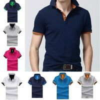New Polo Shirt Men Short Sleeve Summer Cotton Classic Solid Color Men Polo Shirt
