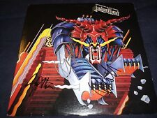 """JUDAS PRIEST SIGNED RECORD """"DEFENDERS OF THE FAITH"""" 3 MEMBERS HOT! L@@K! PROOF!"""
