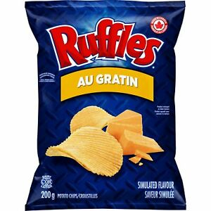 6 Bags Ruffles Au Gratin Chips Size 200g From Canada - FRESH & DELICIOUS!