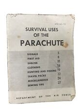 New listing Survival Uses Of The Parachute Air Force Manual 1956 Vintage