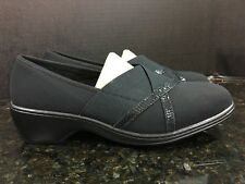 b239f3a05ae4 Women s Aravon By New Balance Kendra Textile Black Loafers Size 8.5 EE - B10