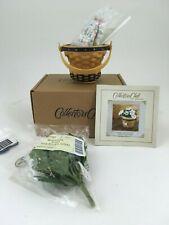 Longaberger May Series Miniature Daisy Basket Combo w Flowers To Nib