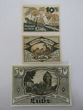1922 Lubz  10/25/50 Pfennig Notes Lot of 3