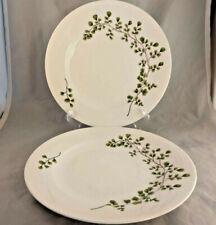 Set of 2 Martha Stewart Maidenhair Fern Green Dinner Plates