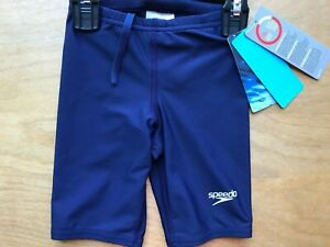 Speedo Powerflex Eco Solid Blue Jammer Swim Short 22 Boys New TAGS 4-5 Years