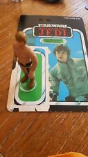 Luke skywalker figure Return Of The Jedi 1980 with back card