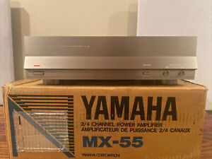 YAMAHA MX-55 Natural Sound 2/4 Channel Power Amplifier Mint With Box