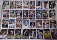 1991 Topps Los Angeles Dodgers Team Set of 32 Baseball Cards