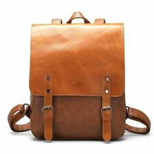 LXY Vegan Leather Backpack Vintage Laptop Bookbag /  College School Bookbag