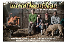 Mewithoutyou + The Dear Hunter 11 x 17 Original Concert Poster FREE USA SHIPPING
