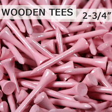 "500 pcs 2 3/4"" 70MM LONG LENGTH VIOLET PINK NEW GOLF NATURAL WOOD TEES TEE PGA"