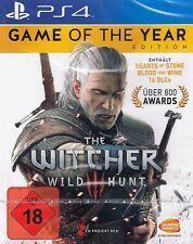 The Witcher 3-WILD HUNT-GAME OF THE YEAR GOTY EDITION + DLC ps4-NUOVO & OVP