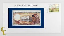 1976 Banknotes of All Nations Banque Centrale Des Comores 500 Francs (UNC)