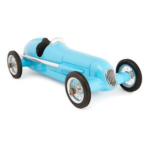 "1931 Bugatti Type 51 Metal Model 12"" Blue Racer Replica Grand Prix Racing Car"